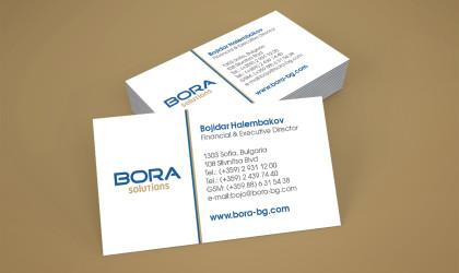 Визитки на BORA Solutions