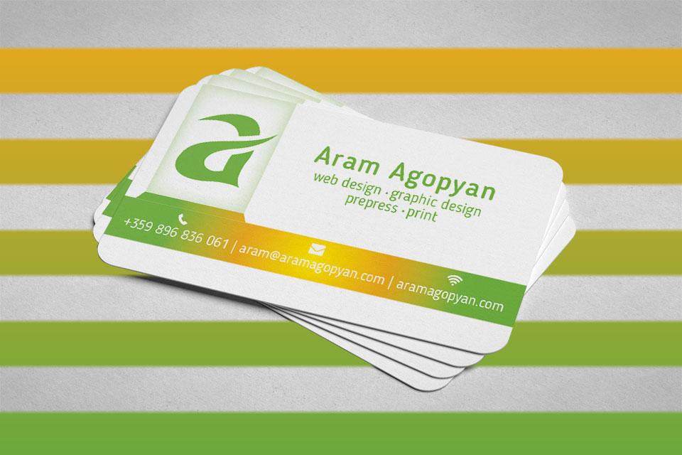 Примери за дизайн на визитки