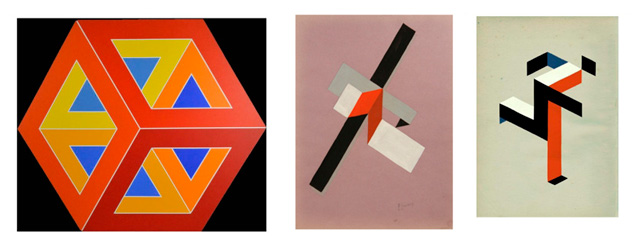 илюзията на цветове и контраст