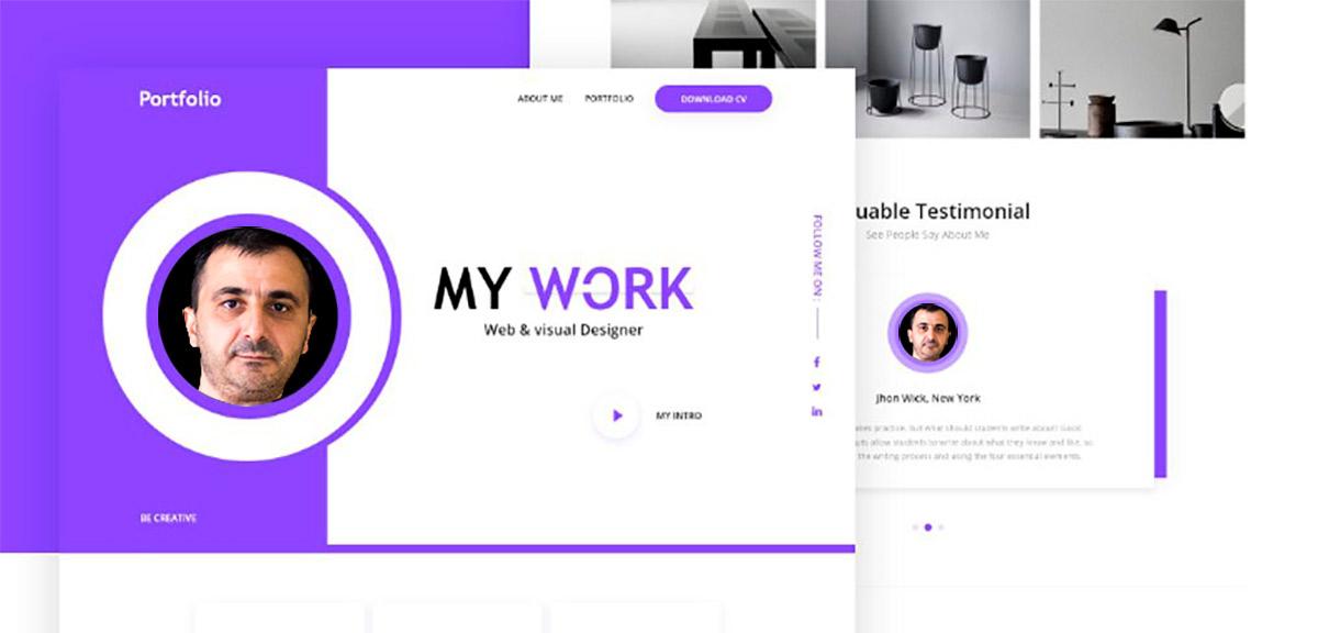 уеб сайт портфолио на графичния дизайнер
