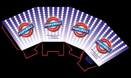 """Малка кутия за пуканки """"Pop & Roll"""""""