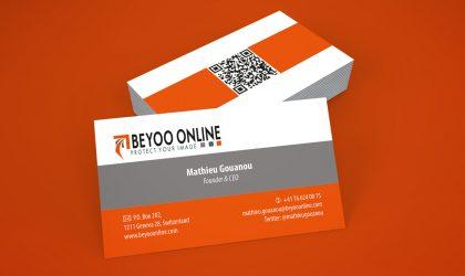 """Визитки на """"Beyoo Online"""""""